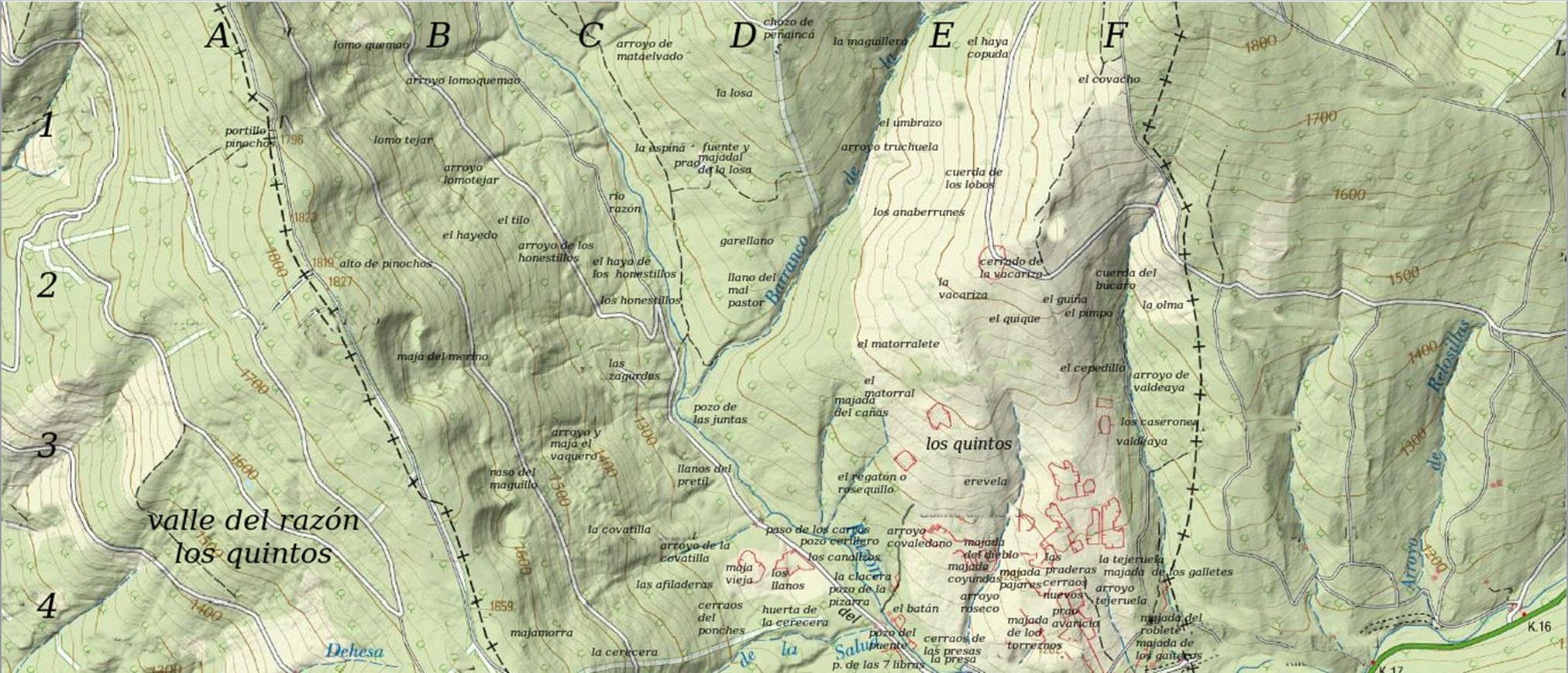 El valle del Razón; Los Quintos